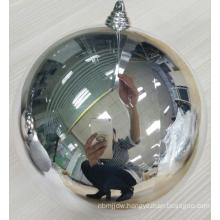 20cm Silver Shatterproof Christmas Plastic Balls