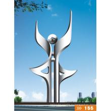 Современный Большой Знаменитый Искусств Аннотация Нержавеющая сталь Скульптура для украшения сада