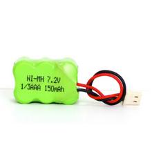 Paquet de batterie rechargeable de 7.2V Ni-mh 1 / 3AAA 150mAh