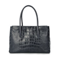 Moda de cocodrilo de cuero genuino OL Daily Business Bag