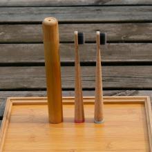 Cepillo de dientes de bambú cónico biodegradable natural