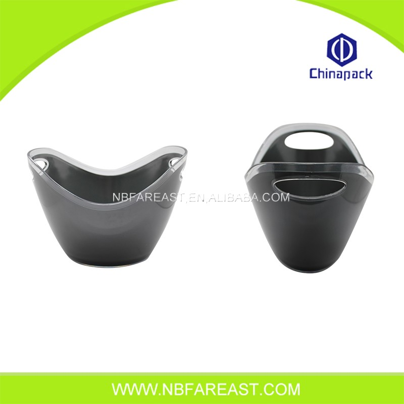 Factory sale PP acrylic beer ice bucket