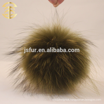 Lovely Green Fluffy Raccoon Fur Pom Poms Nice Heavy Density Cheerleaders Accessories