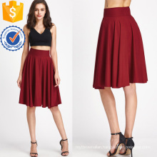 High Rise Wide Waistband Circle Skirt Manufacture Wholesale Fashion Women Apparel (TA3089S)
