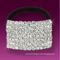 fashion metal silver plated crystal elastic crystal hair band