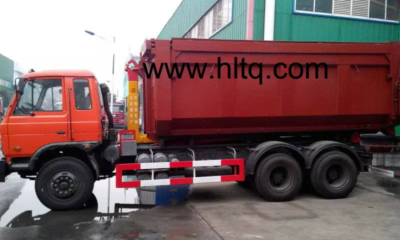 Hook lift garbage truck-1