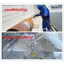 Abrasivo natural limpando com jato de areia a guarnição Waterjet do corte