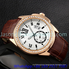 Top-Quality Alloy Luxury Watches with Genuine Leather Hl- 15046