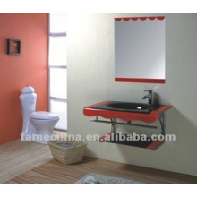 Gabinete de baño de vidrio de tocador