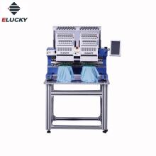 ELUCKY Tajima Type Commercial 15 couleurs Deux têtes Machine à broder informatisée
