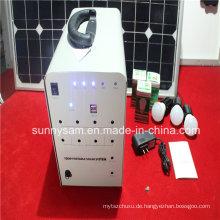 100W Solar Home Lighting System mit 2 Glühbirnen