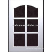 puerta de armario de cocina de vidrio de pvc arco