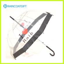 Forme el paraguas recto transparente de Poe para la promoción