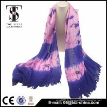 Écharpe violet femme femme de 2015 avec fournisseur de foulard boré