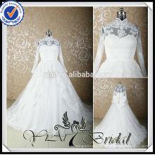 RSW422 Vestidos de casamento de renda longa com perna em turquia