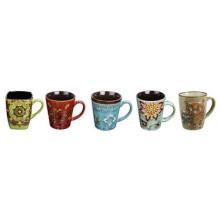 Bester verkaufender farbiger keramischer Becher, glasig-glänzende Qualitäts-Kaffeetasse