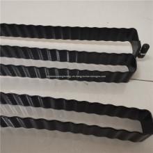 Tubo serpentino negro para celdas de batería cilíndricas