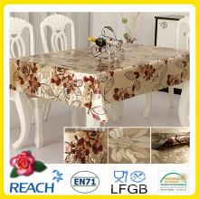 PVC dorado y repujado Superposición de mesa de fábrica