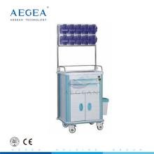 AG-AT001A2 Einfache Reinigung ABS-Material mit einer Tür Laptop Anästhesie medizinische Wagen