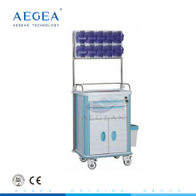AG-AT001A2 Easy cleaning ABS material with one door laptop anaesthesia medical trolley
