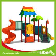 Choix multiple Forêt colorée Arbre Style Aire de jeux en plein air en plastique pour enfants Utilisé