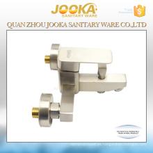 Mezclador termostático de la ducha del baño del níquel cepillado de cerámica del cartucho