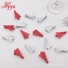 Pequeño clip de madera de la primavera formada forma de árbol de la historieta colorida de la manera al por mayor de la Navidad