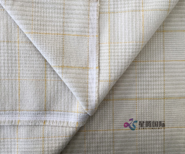 Both Sides Of Plaid Cotton Yarn Dyed Fabric For Clothing
