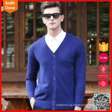 Chaqueta de lana tejida para hombre personalizada de manga larga