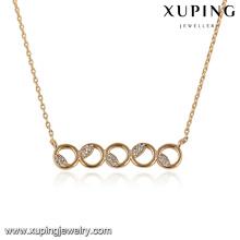 43361-Xuping Mädchen Geschenk Schmuck Kreis Anhänger Halskette Gold