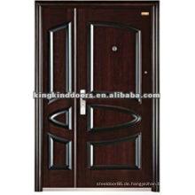 Angepasste Stahl Doppeltür / eine und eine halbe Tür Design KKD-571B für Mutter und Sohn Tür verwendet