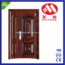 A porta de aço da segurança, lamina a porta do material do aço, porta dobro