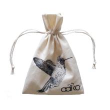сумка-мешок из хлопка и холста с завязками
