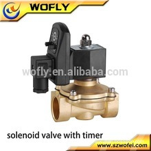 Direct-acting electric solenoid automatic water drain valve