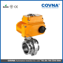 hot sale water electric clamp food grade stainless ball valve