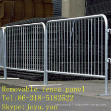 Panneau de clôture amovible