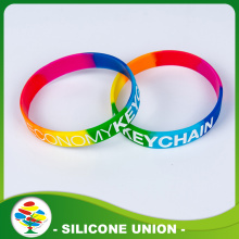Colour Separation Debossed Silicone Filling Color Bracelet