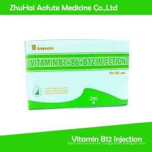 Vitamina B1 + B6 + B12 Inyección y Medicina Multivitamínica