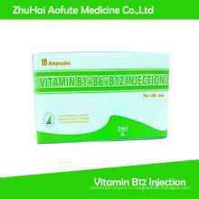 Vitamine B1 + B6 + B12 Injection et médecine multivitaminique