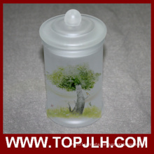 Blank Frosted Glass Storage Jar Sublimation Seal Pot