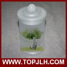 Пустой матовое стекло хранения Jar Сублимационная печать горшок