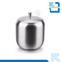 Higt Calidad 304 botella de especias de contenedores de sal de acero inoxidable