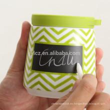 Frasco de almacenamiento de cerámica de 420 ml con cuchara