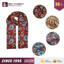 ГЭК 2016 Новый разработанный продукт мода дешевой цене цветочные печатных шарф и шаль