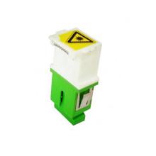 Adaptador óptico de fibra simple SC / APC con obturador sin brida