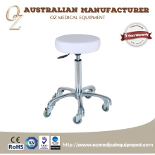 High End Medical Equipment PU Leather Clinic Saddle Chair Doctor Stool With Hairless Wheel Australian Manufacturer