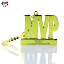 Metal number plate keychain with laser logo
