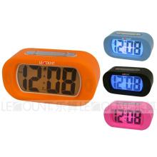 Horloge de bureau LCD Silicon Digtal avec fonctions d'alarme et de répétition (LC978)