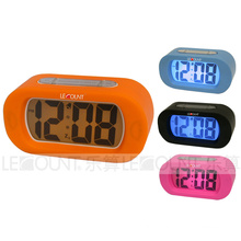 Silicon Digtal LCD Desk Clock with Alarm and Snooze Functions (LC978)