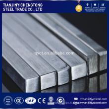 Inox AISI 316 SUS 201 202 304,304L, 316L, 321,430 barre de tige carrée en acier inoxydable décapé